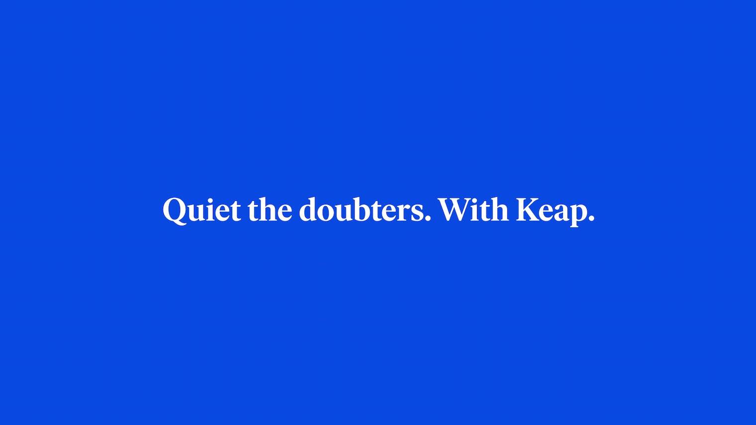 Keap Blue End Card